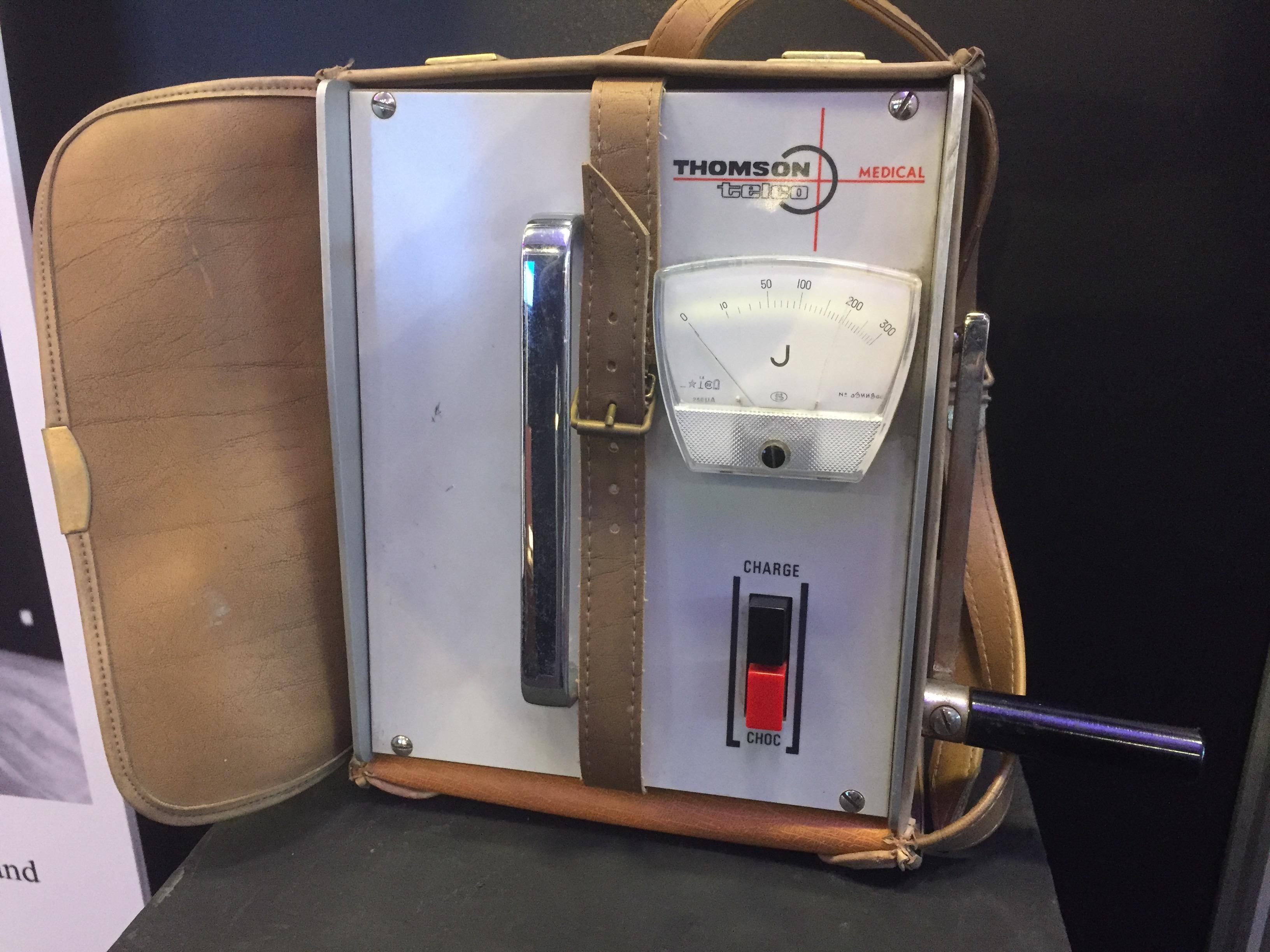 Manual charge defibrillator